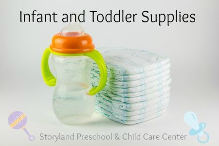 Family Resources:  Infant and Toddlers Supply List