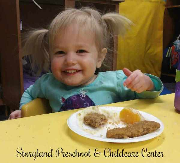 Storyland Preschool's weekly menus are based on the CACFP Program